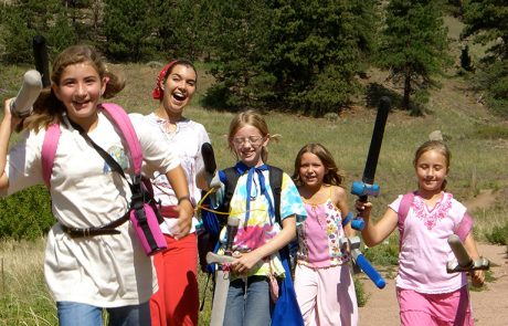 Colorado Girls having fun at summer camp