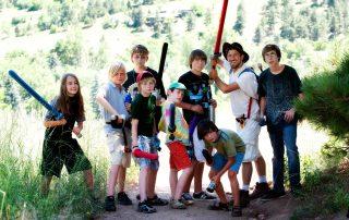 Kids at the camp at Settler's park, Boulder, CO